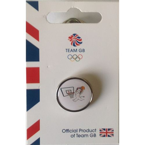 Rio 2016 Team GB Pride Basketball Pin Badge