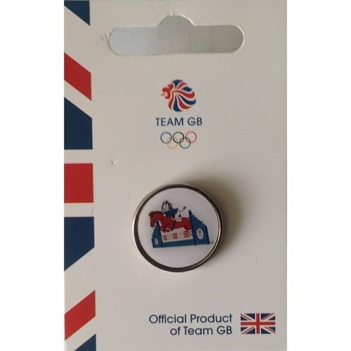 Rio 2016 Team GB Pride Equestrian Pin Badge