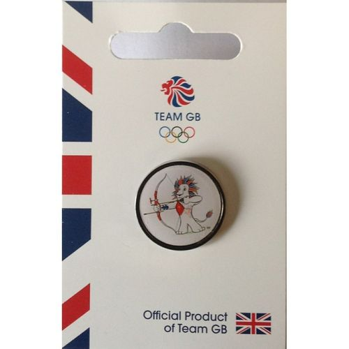Rio 2016 Team GB Pride Archery Pin Badge