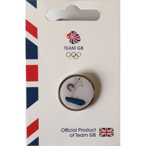 Rio 2016 Team GB Pride Gymnastics Pin Badge