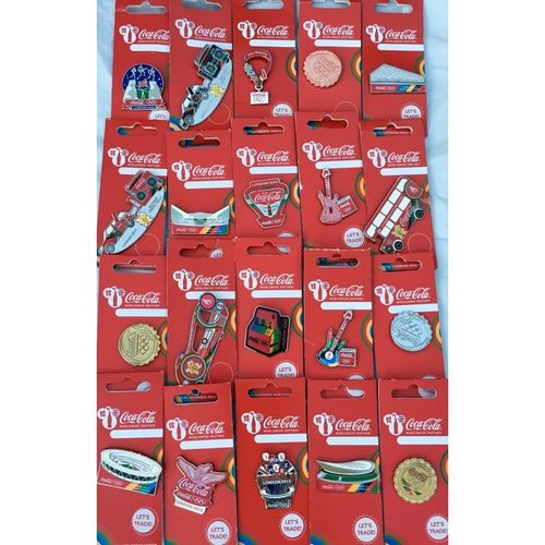 London 2012 Olympic Coca-Cola Mix Bundle Of 30 Pin Badges