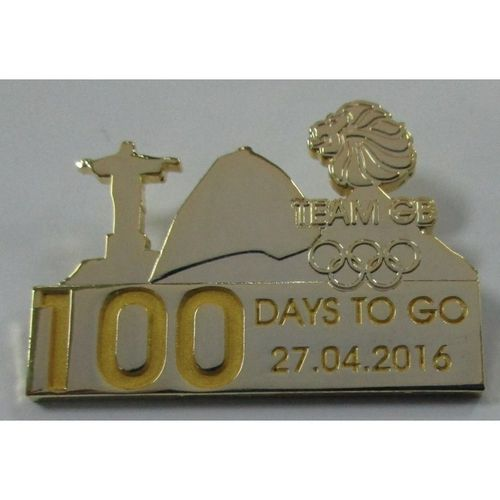 Rio 2016 Team GB 100 Days To Go Pin Badge
