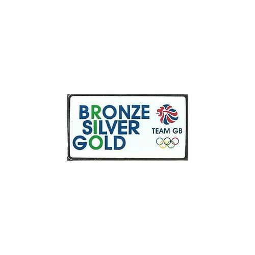 Rio 2016 Team GB Bronze Silver Gold Pin Badge