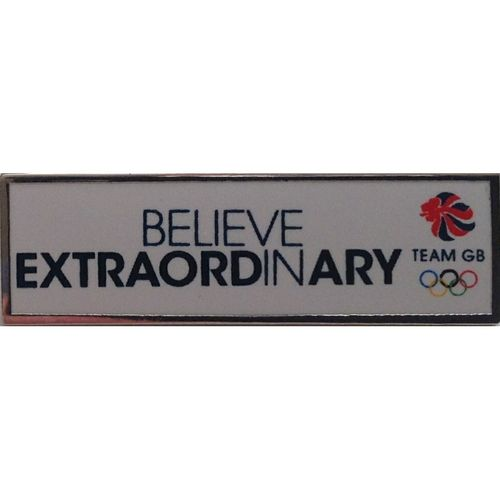 Rio 2016 Team GB Believe in Extraordinary Pin Badge