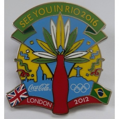 London 2012 Olympic - Coca Cola - See You In Rio 2016 Pin Badge