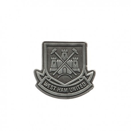 West Ham United FC Pewter Crest Official Pin Badge