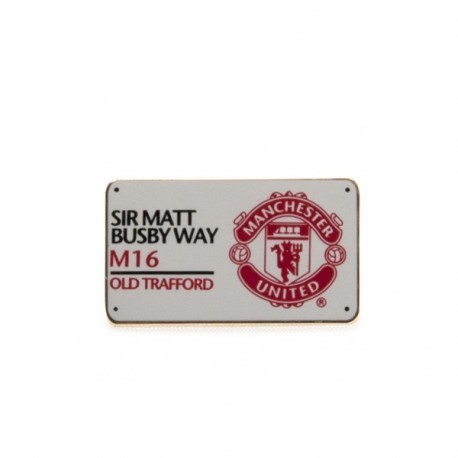 Manchester United FC Sir Matt Busby Way Pin Badge