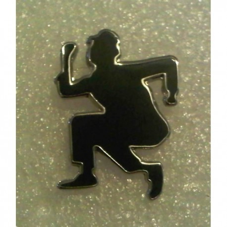 Ska Dancing Man Cut Out Pin Badge