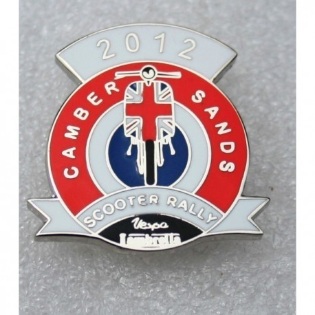 Camber Sands Scooter Rally Pin Badge