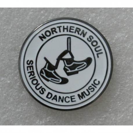 Northern Soul Serious Dance Music Pin Badge