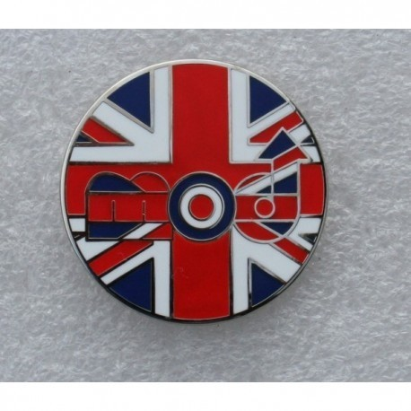 MOD Union Jack Circular Pin Badge