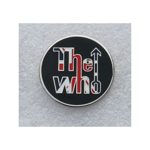 The Who Union Jack Circular Pin Badge