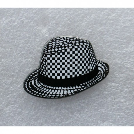 Rude Boy Pork Pie Hat Pin Badge