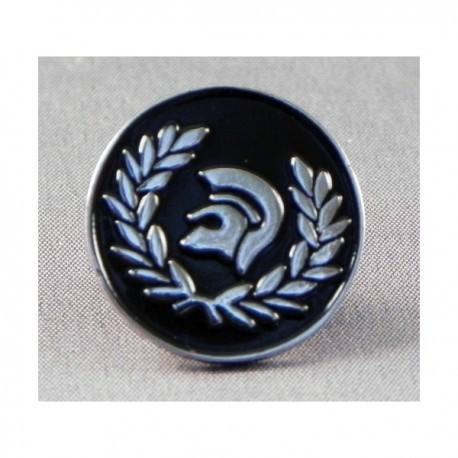 Black Trojan Helmet Pin Badge