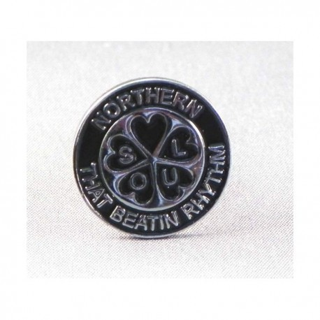 Northern Soul That Beatin Rhythm Circular Pin Badge