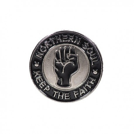 Northern Soul Keep The Faith Circular Pin Badge