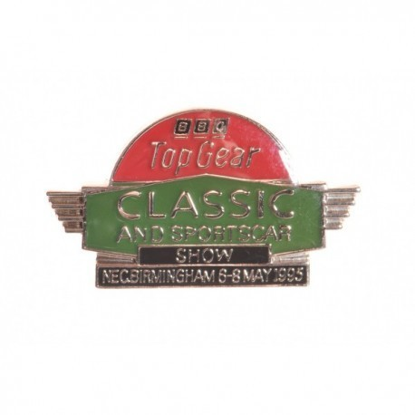 BBC Top Gear Classic Sports Car Show Pin Badge
