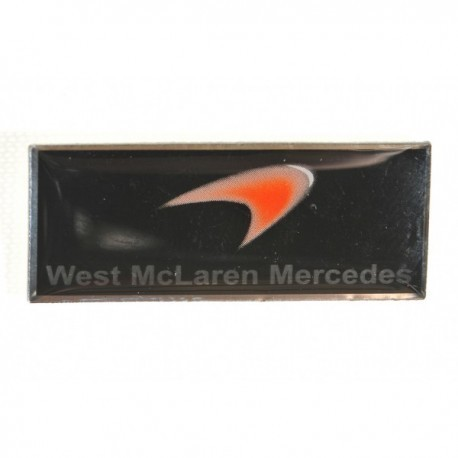 West McLaren Mercedes Formula 1 Logo Pin Badge
