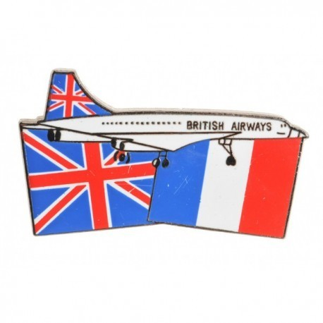 Concorde Flags Pin Badge