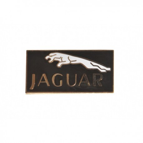 Jaguar Logo Black Background Pin Badge