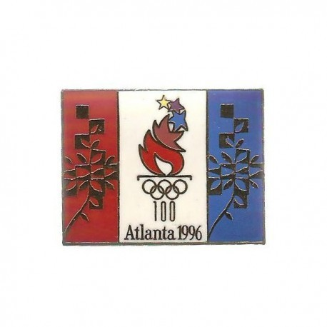 ATLANTA 1996 OLYMPIC TRI-COLOUR FLAG LOGO PIN