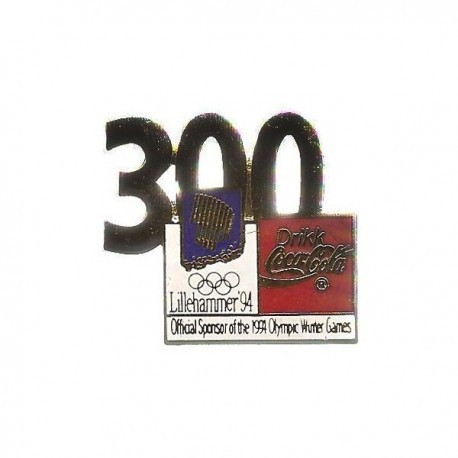 LILLEHAMMER 1994 WINTER OLYMPIC 300 DTG COCA COLA SPONSOR PIN