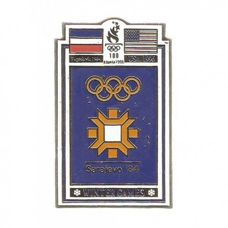 ATLANTA 1996 OLYMPIC COMMEMORATIVE POSTER PIN - SARAYEVO '84