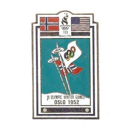 ATLANTA 1996 OLYMPIC COMMEMORATIVE POSTER PIN - OSLO 1952