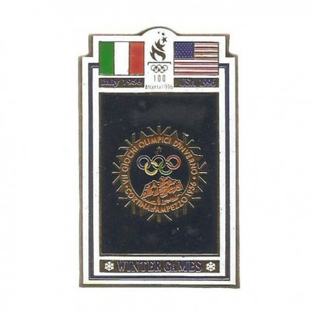 ATLANTA 1996 OLYMPIC COMMEMORATIVE POSTER PIN - ITALY 1956