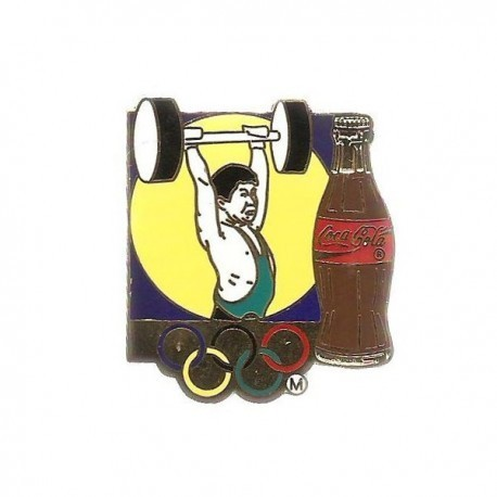ATLANTA 1996 OLYMPIC WEIGHT-LIFTING 'COCA COLA' SPONSOR PIN