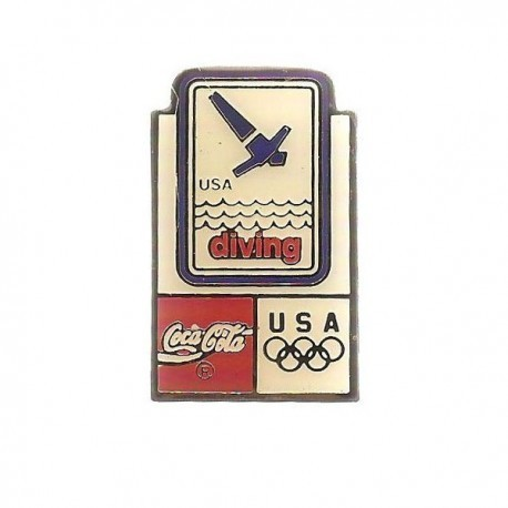 ATLANTA 1996 OLYMPIC DIVING 'COCA COLA' SPONSOR PIN