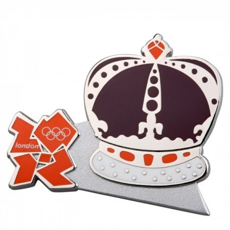 London 2012 Olympic Crown With Logo Pin Badge