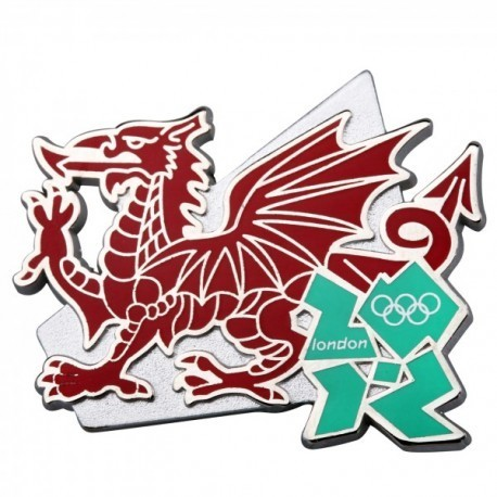 London 2012 Olympic Welsh Dragon Pin Badge
