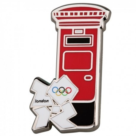 London 2012 Olympic Post Box With White Logo Pin Badge