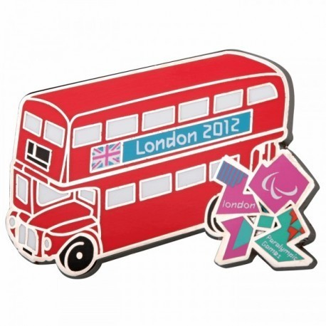 London 2012 Paralympic Routemaster Bus Pin Badge