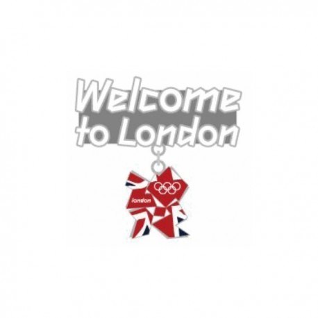 London 2012 Olympic Welcome To London Pin Badge