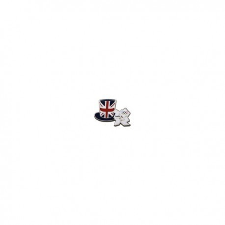 London 2012 Olympic Union Jack Top Hat Pin Badge