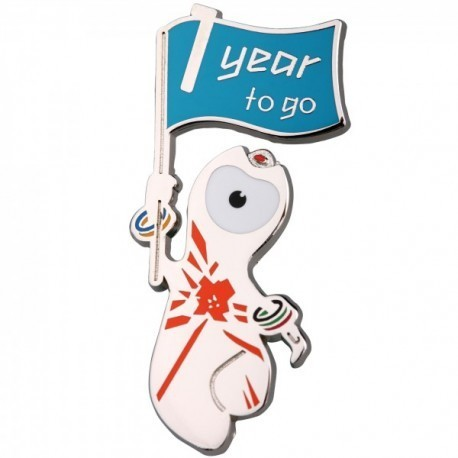 London 2012 Olympic 1 Year To Go Wenlock With Flag Pin Badge