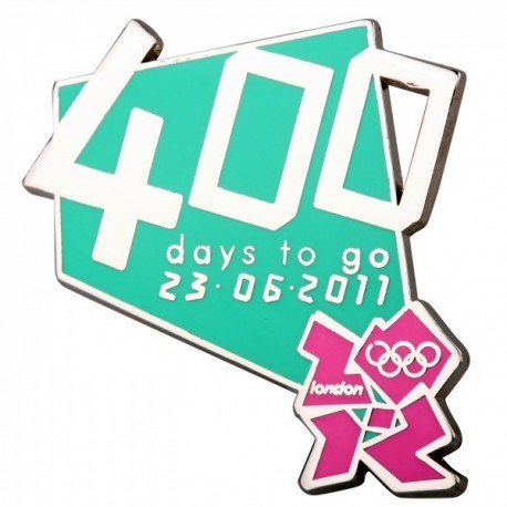 London 2012 Olympic 400 Days To Go Logo Pin Badge