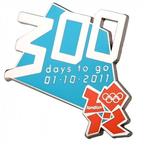 London 2012 Olympic 300 Days To Go Logo Pin Badge