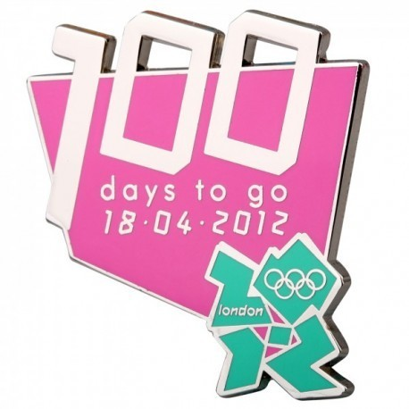 London 2012 Olympic 100 Days To Go Logo Pin Badge