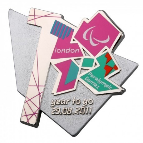 London 2012 Paralympic 1 Year To Go Pin Badge