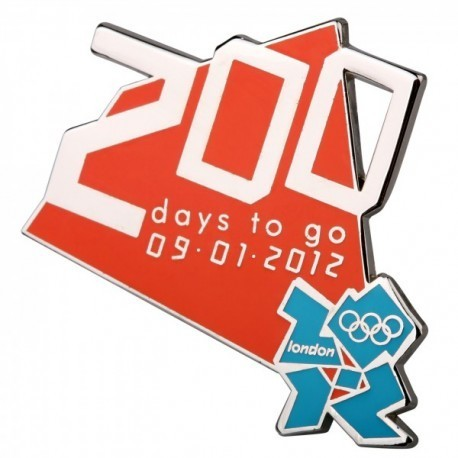 London 2012 Olympic 200 Days To Go Logo Pin Badge