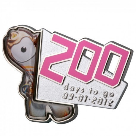 London 2012 Olympic 200 Days To Go Wenlock Pin Badge