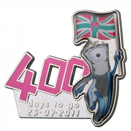 London 2012 Paralympic 400 Days To Go Mandeville Pin Badge