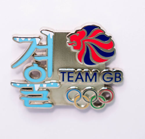 2018 Pyeongchang Winter Olympic Official Team GB Winter Symbol Pin Badge