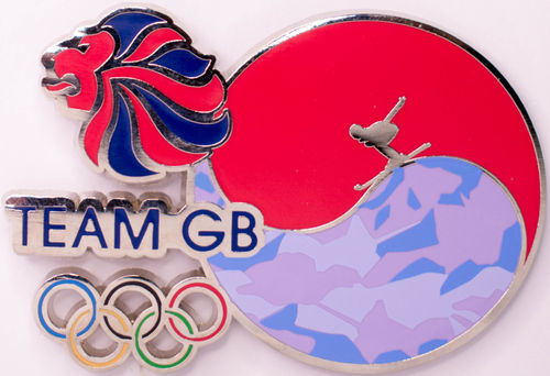 2018 Pyeongchang Winter Olympic Official Team GB Korean Flag Pin Badge