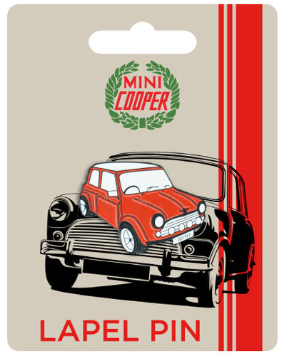 Mini Cooper Red Car Lapel Pin Badge
