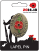 Remembrance Lapel Pin Badge - Poppy 1914-1918 Design