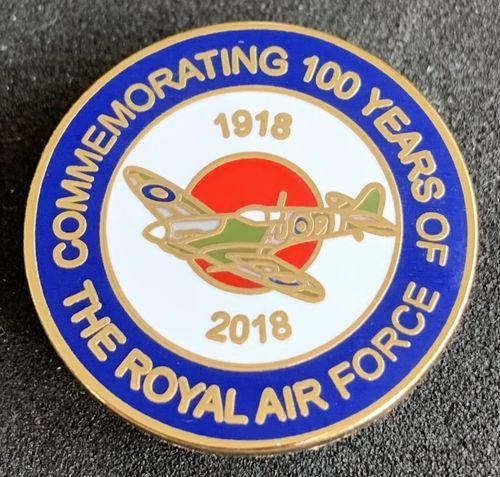 RAF 100 Roundel 1918-2018 pin badge